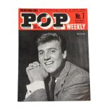Pop Weekly No.7 12th October 1963 Autographed By The Rolling Stones five signatures: Mick Jagger,