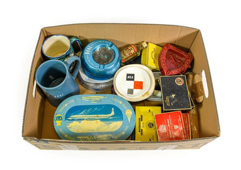 BOAC/BEA Related Items BOAC: Jerusalem BOAC Takes Care Of You mug, crested ceramic tankard,