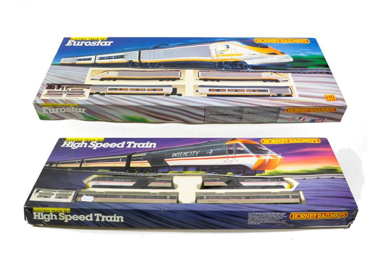Hornby Railways OO Gauge Two Sets R547 Eurostar and R695 High Speed Train (both E boxes G, some