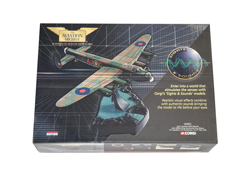 Corgi Aviation Archive Sights & Sounds AA32612 1:72 Scale Avro Lancaster MkIII Wing Commander Guy