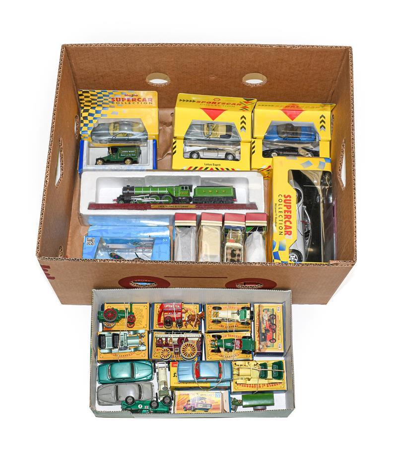 Corgi 252 Rover 2000 (E box E) Matchbox Yesteryears Y1 Allchin traction engine, Y12 Horse drawn bus,