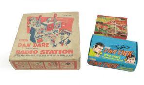 Merit Dan Dare Radio Station (G box G-F) Dan Dare jigsaw (contents unchecked) and a Star Trek