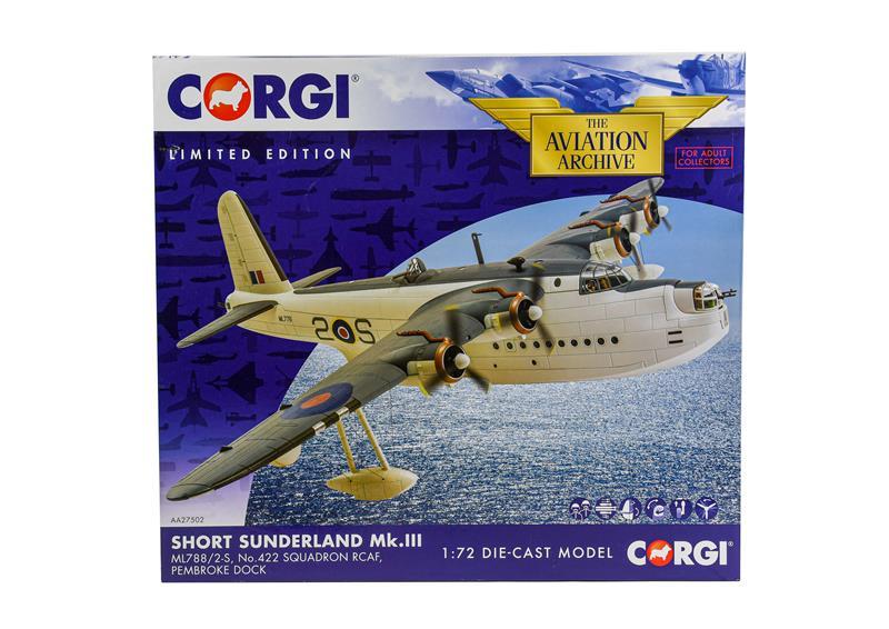 Corgi Aviation Archive AA27502 1:72 Scale Short Sunderland MkIII (E box E)