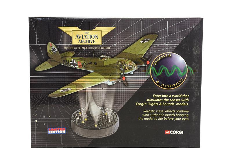 Corgi Aviation Archive Sights & Sounds AA33709 1:72 Scale Heinkel He111 Blitz Bomber (E box E-G)
