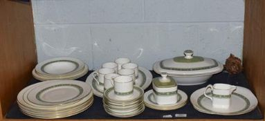 A Royal Doulton Rondelay part dinner and coffee service (one shelf)