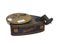 ~A 1930s Bing german tinplate clockwork Bingola I toy gramophone