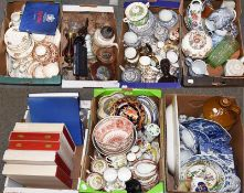 ~Seven boxes of assorted pottery and porcelain including Spode Italian landscape, Royal Albert