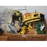 A quantity of Dinky, Corgi and Tonka toys, together with boxes Matchbox action speed riders,