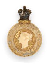 A Royal Worcester Porcelain Scent-Bottle With Gilt Plate Mount, Design Registration Number 56943,