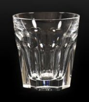 A Set of Ten Baccarat Harcourt Pattern Whisky Tumblers, 20th century, etched marks, 11.5cm high. All