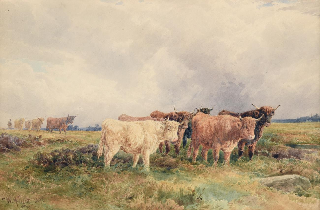 William Henry Pigott (1810-1901) Highland cattle in a landscape Signed and dated 1895,