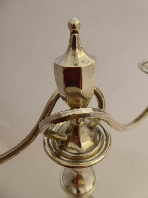 A Pair of George V Silver Two-Light Candelabra, by Mappin and Webb, Sheffield, 1918, each on - Image 11 of 16