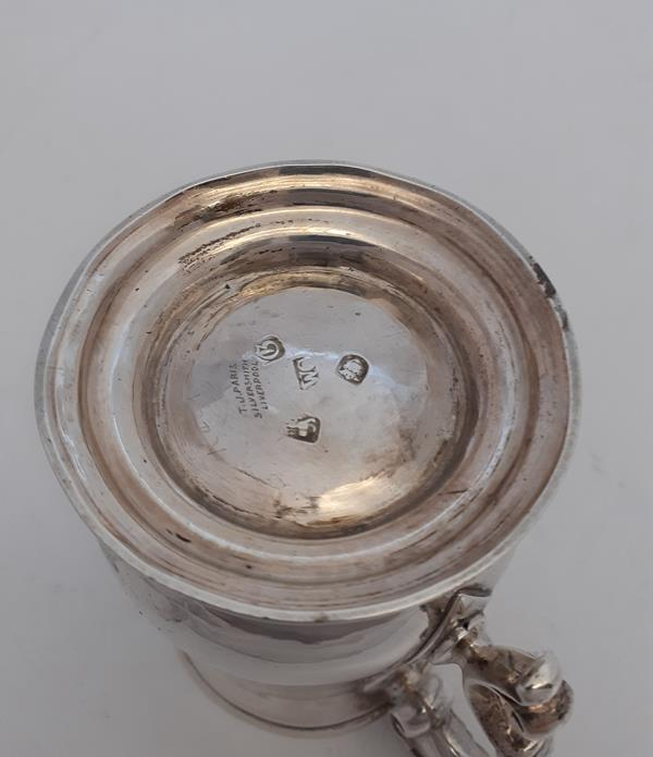 A George III Silver Mug, by William Cripps, London, 1762, Later Retailed by T. J. Paris, - Image 3 of 5
