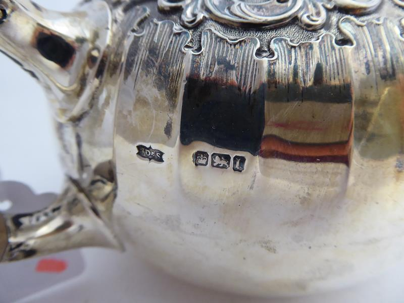 An Edward VII Silver Teapot, James Dixon and Sons Ltd., Sheffield, 1903, compressed globular, with - Image 2 of 10