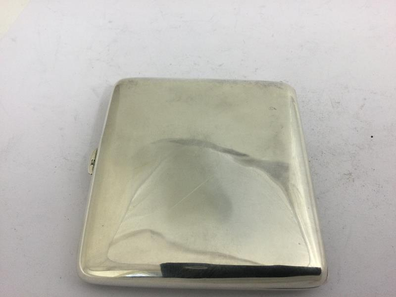 An Alpaca and Enamel Erotic Cigarette-Case, First Quarter 20th Century, oblong, the hinged cover - Image 3 of 5