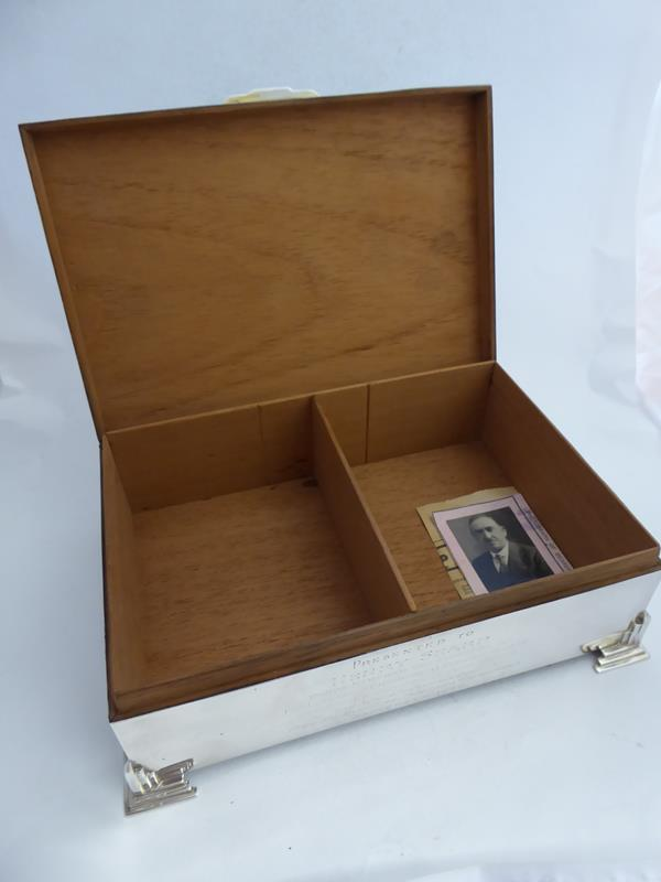 A George V Silver Cigarette-Box, by Charles S. Green and Co. Ltd., Birmingham, Probably 1934, oblong - Image 6 of 10