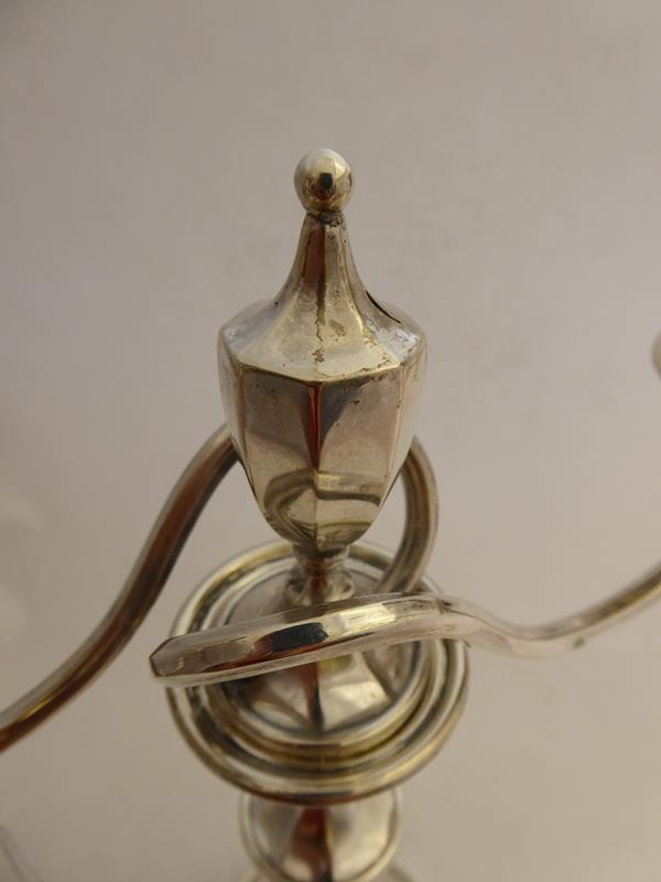 A Pair of George V Silver Two-Light Candelabra, by Mappin and Webb, Sheffield, 1918, each on - Image 5 of 16