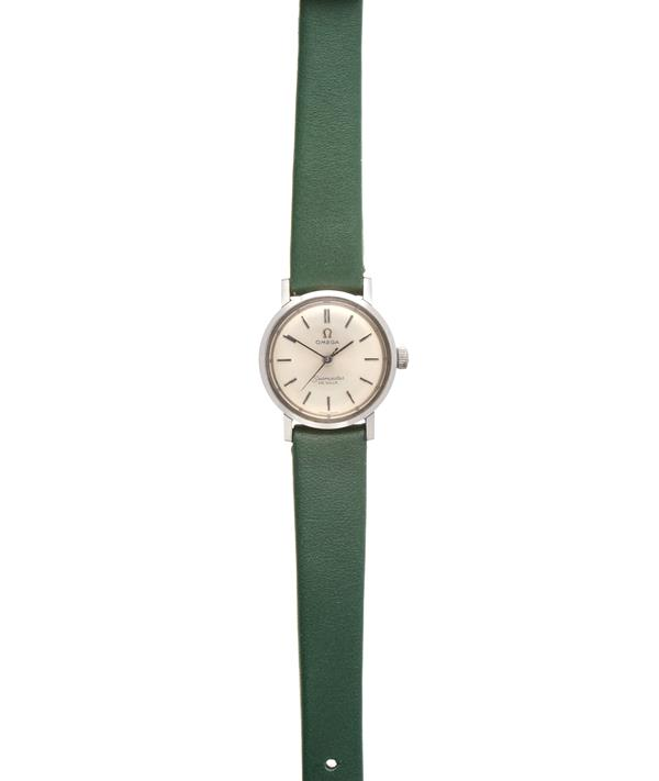 A Lady's Stainless Steel Centre Seconds Wristwatch, signed Omega, model: Seamaster De Ville, circa
