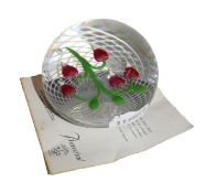 A Baccarat glass paperweight, limited edition 101/175