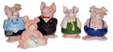 Five Wade Natwest piggy banks (5)