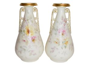 A pair of Worcester China Works vases (2)