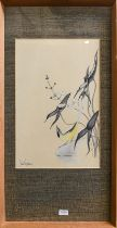 John Eastman (20th century) Four watercolours to include a hummingbird, a Canadian nut hatch, and