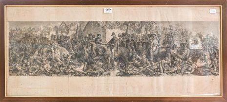 After Daniel Maclise RA, ''Wellington and Bluchar'', print, 40.5cm by 98cm