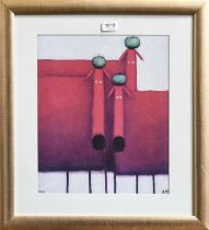 After Dan Kesler 'Tres Amigos@ print together with three other landscape prints (21st Century)