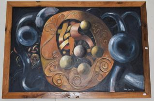 Tom Guy (Contemporary) ''Celtic Echoes'', signed and dated '91, oil on canvas, 99cm by 151cm