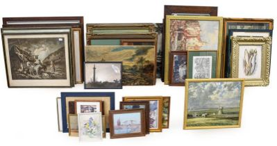 A large collection of mainly 20th century prints after old master paintings, impressionist and early