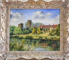 J. C Madgin (Contemporary) A pair of oil on board river views, signed and dated 1988, each