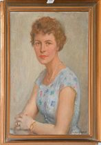 Vinkler Laszlo (1912-1980) Hungarian, portrait of a lady, signed and dated 1960, oil on canvas, 70cm