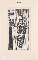 Mary Farnell (1926-2014) ''Penhill'', signed etching, together with two further etchings by the