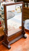 A Chinese hardwood table screen converted to a mirror, 47cm by 72cm