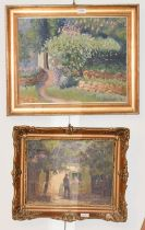 Cs. Joachim Ferenc (1882-1964) Hungarian, country villa, oil on canvas, signed, 38cm by 49cm,