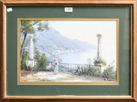 M Gianni (20th century) Italian, three signed watercolours, together with four other works including