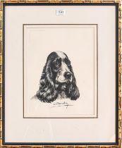 A collection of 20th century Spaniel prints, all framed, various artists, various sizes (8)