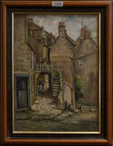Circle of the Staithes Group (late 19th century) Laurel Inn, Robin Hood's Bay, unsigned oil on