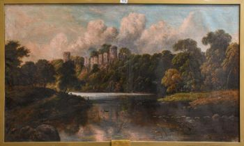 J Wilton Adcock (1863-1920) View of Warwick Castle, signed and dated 1891, oil on canvas, 75cm by