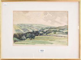 Lincoln Pugh Jenkins, framed watercolour, 24cm by 37cm