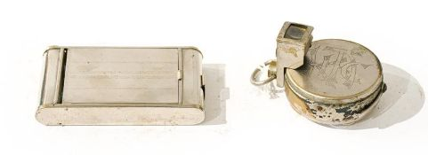 Houghtons Ticka Pocket Watch Camera with spool and viewer (significant war to case) together with
