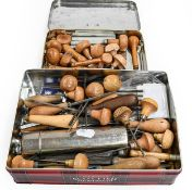 Various Metalworking Tools including over 10 hand engraving tools, small hand files, needle files (