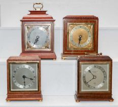 Four Elliot mantel timepieces