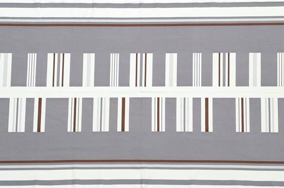 Paule Vézelay for Heal's: A Stanz Pattern Fabric Length or Panel, designed 1950s, screen printed, - Image 2 of 2