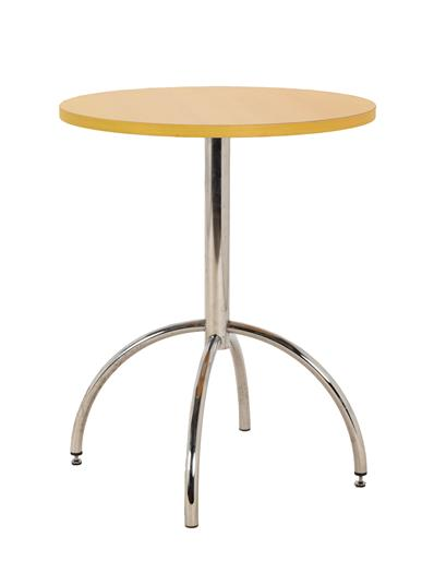 An Arrmet Tamogo Bar Stool, designed by Robby Cantarutti, curved ply seat and back, on a chrome