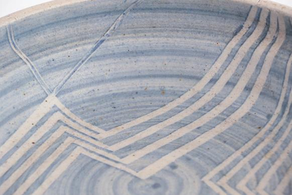 Victor Priem (Latvian, 1925-1989): A Stoneware Bowl, incised abstract pattern, signed Victor Priem - Image 2 of 3