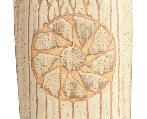 Victor Priem (Latvian, 1925-1989): A Stoneware Flat Bottle, abstract geometric pattern, potter's - Image 3 of 4
