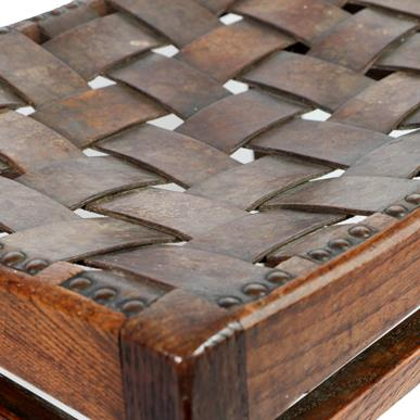 Arthur W Simpson (1857-1922) and Hubert Simpson (1889-1975) An Oak Easy Stool, with studded - Image 6 of 6