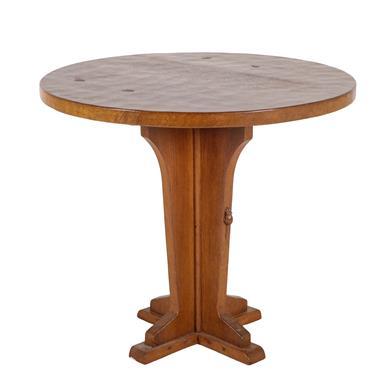 Workshop of Robert Mouseman Thompson (Kilburn): An English Oak Octagonal Side/Pub Table, on