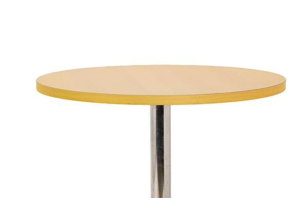 An Arrmet Tamogo Bar Stool, designed by Robby Cantarutti, curved ply seat and back, on a chrome - Image 2 of 4